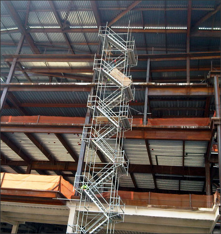 Captivating Stair Tower Scaffolding Rental Systems Tennessee